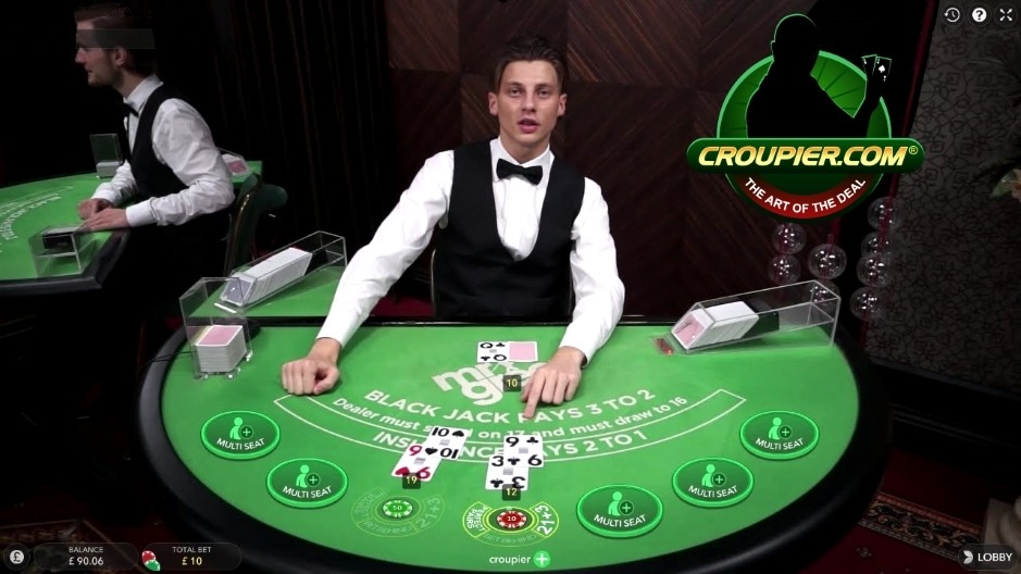 Online Blackjack Dealer Justin Bieber vs Card Counting Rain Man at Mr Green Online Live Casino